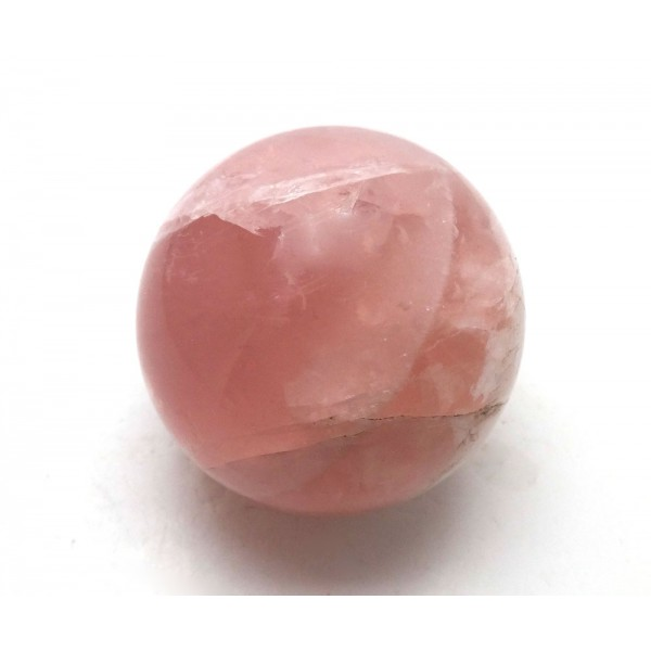 Star Pink Rose Quartz Crystal Ball from Brazil