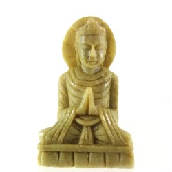 Small Stone Namaste Buddha Statue Namaskara Anjali Mudra
