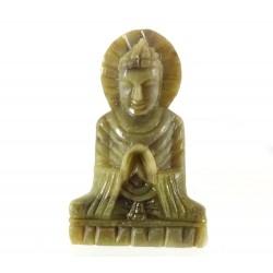 Small Stone Buddha Statue Uttarabhodi Mudra