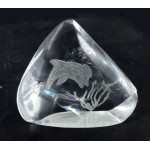 Dolphin Carved on Clear Quartz