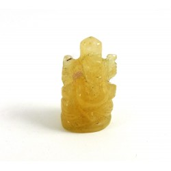 Pocket Peach Aventurine Carved Ganesh