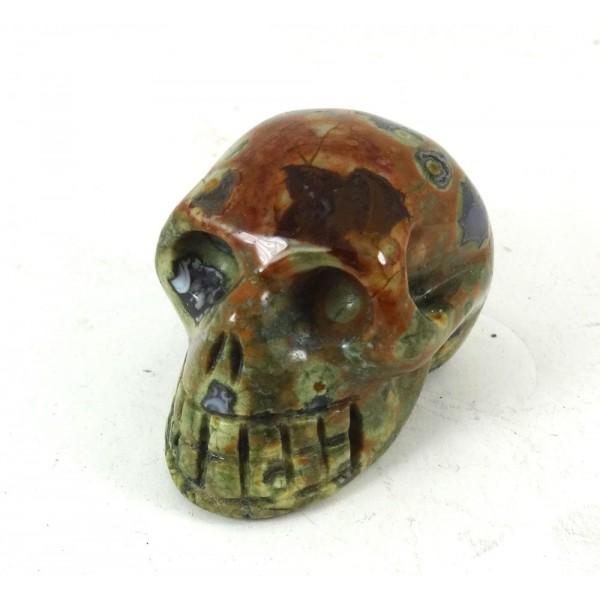 Picasso Jasper Crystal Skull