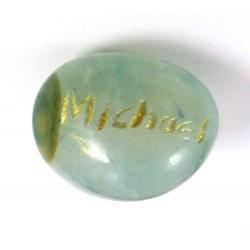 Blue Agate Archangel Michael Tumblestone
