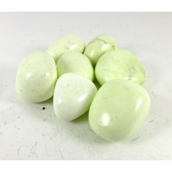 Lemon Chrysoprase tumblestones - 20-30mm