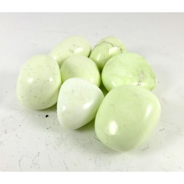 Lemon Chrysoprase tumblestones - 20-30mm