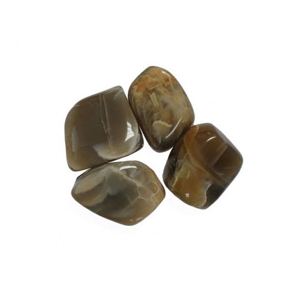 Black Moonstone tumblestones 21-26mm