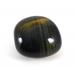 Polished Hawks Eye Tumbled Pebble
