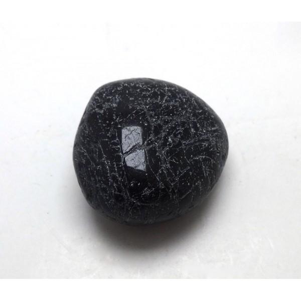 Black Tourmaline Polished Crazed Pebble